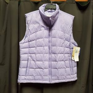 NWT lilac downfilled Columbia zip up vest